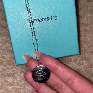 Tiffany & Co. Authentic C Ingraved Necklace